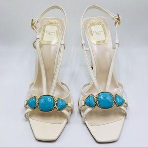 Christian Dior Piedra heel sandal 37.5 gemstone